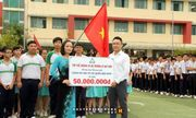 800 học sinh chào cờ dàn đội hình bản đồ Tổ quốc