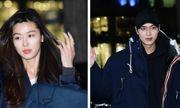 Jeon Ji Hyun đi xế khủng, Lee Min Ho giản dị dự tiệc mừng Huyền Thoại Biển Xanh