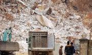 Sập mỏ đá trắng ở Nghệ An, 1 người tử vong
