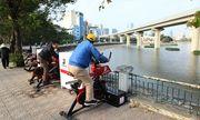 Hà Nội lắp xe đạp lọc nước để làm sạch môi trường