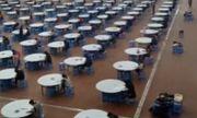 Tránh gian lận trong thi cử, cả thầy lẫn trò chuyển xuống nhà ăn làm bài thi
