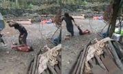 Phẫn nộ cảnh ông bố đánh đập con gái rồi kéo lê sau xe máy