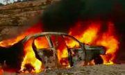 Ô tô bất ngờ bốc cháy ngùn ngụt trên đèo Đại Ninh, 5 người bỏng nặng