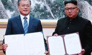 Hai nhà lãnh đạo Hàn-Triều ký kết tuyên bố chung,