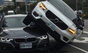 Vợ hùng hổ lái ô tô chồm lên xe của chồng vì nghi chở nhân tình và cái kết đắng