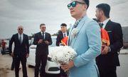 Tiến Đạt được vợ trẻ chăm sóc kỹ lưỡng trong lễ cưới