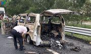 Phát hiện thi thể trong ô tô bốc cháy dữ dội trên cao tốc Hà Nội - Hải Phòng