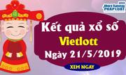 Kết quả xổ số Vietlott ngày 21/5/2019