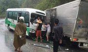 Tin tức tai nạn giao thông mới nhất hôm nay 2/6/2019: Xe buýt va chạm xe tải, 2 tài xế bị thương nặng