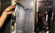 Bắt tại trận nam thanh niên 32 tuổi quay lén trong nhà vệ sinh