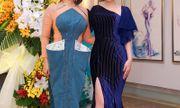 Nữ hoàng Kim Trang kiêu sa lộng lẫy đi dự triển lãm tranh của NTK Quỳnh Paris