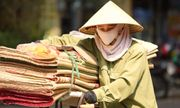 Mặt đường tăng nhiệt gần 60 độ C, người dân Hà Nội vẫn vật vã tìm kế mưu sinh
