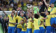 Đánh bại Peru, Brazil lên ngôi vô địch nhờ thẻ đỏ phạt đền