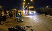TP. HCM: Xe máy tông vào đuôi xe container trên cầu vượt Sóng Thần, một người tử vong