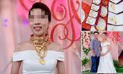 Xuất hiện thêm hình ảnh cô dâu vàng đeo trĩu cổ trong ngày cưới khiến dân mạng trầm trồ