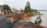 An Giang: Quốc lộ 91 sạt lở xuống sông Hậu