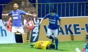 Tiền vệ Than Quảng Ninh gây phẫn nộ vì giật cùi chỏ, giẫm lên đầu cầu thủ Dược Nam Hà Nam Định