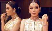 Lý Nhã Kỳ diện váy dát vàng, đeo trang sức triệu USD dự sinh nhật của tỷ phú Ấn Độ