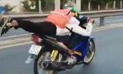 Video: Nam sinh 17 phóng như bay trên quốc lộ khiến người xem thót tim