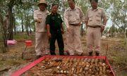 Quảng Trị: Phát hiện gần 1500 lựu đạn, rocket giữa rừng tràm xen lẫn khu dân cư