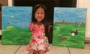 Khâm phục nghị lực của em bé gốc Việt vẽ tranh bằng chân ủng hộ người khuyết tật