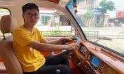 Mới học lớp 12, nam sinh Nam Định chế tạo thành công ô tô chạy bằng năng lượng mặt trời