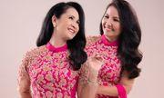 Hai bà mẹ chồng nổi tiếng Lan Hương - Ngân Quỳnh khoe sắc với áo dài của NTK Đức Hùng