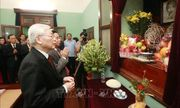 Tổng Bí thư, Chủ tịch nước Nguyễn Phú Trọng dâng hương tưởng niệm Chủ tịch Hồ Chí Minh