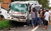 Tin tức tai nạn giao thông mới nhất hôm nay 9/9/2019: Xe cứu hộ tông xe tải, tài xế trọng thương