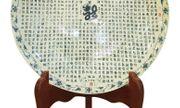 Đĩa gồm 1.000 chữ Long viết bằng thư pháp của Gốm Chu Đậu được vinh danh kỷ lục Guiness thế giới