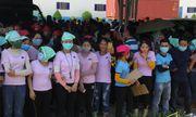 Hàng ngàn công nhân đình công vì nghi xuất ăn trưa có dòi ở Quảng Nam