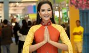 H'hen Niê đẹp xuất sắc với áo dài thướt tha ở Thái Lan