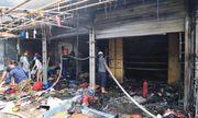 Hà Nội: Cháy lớn tại chợ Tó, huy động hàng chục xe cứu hỏa tới dập lửa