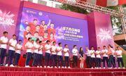 CLB bóng đá Hà Nội tổ chức sinh nhật cho Duy Mạnh ở trường THCS Marie Curie