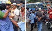 TP.HCM: Cãi vã do va chạm giao thông, tài xế xe bus cầm dao tấn công thanh niên chạy Grab