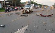 Bình Phước: Xe bán tải và ô tô 7 chỗ va chạm kinh hoàng, 3 người bị thương nặng