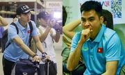 Sau chiến thắng Malaysia, các tuyển thủ Việt Nam ngái ngủ tới sân bay chuẩn bị sang Indonesia