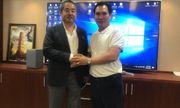 Tổng giám đốc Lucky Vietnam Construction chúc mừng HDTC thắng kiện
