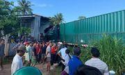 Xe container bất ngờ đâm vào nhà dân, một người tử vong