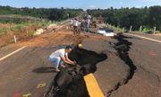 Gia Lai công bố nguyên nhân đường 250 tỷ mới làm đã nứt toác, sụt lún nghiêm trọng