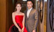 Quỳnh Nga diện váy như đoá hồng dự ra mắt phim cùng Việt Anh