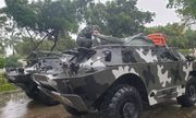 Bình Định: Huy động xe bọc thép sẵn sàng ứng cứu trước cơn bão số 6
