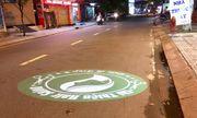 """Dùng đèn led chiếu quảng cáo xuống mặt đường: Nguy cơ tai nạn chết người, cơ quan chức năng """"ngoài cuộc""""?"""