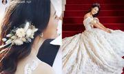 Á hậu Hoàng Oanh hé lộ ảnh cưới đẹp lung linh, vẫn quyết không lộ mặt chú rể