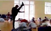 """Vụ thầy dạy võ """"tung cước"""" vào lưng học sinh ở Vĩnh Phúc: Võ sư tự ý vào khu vực học sinh khởi động"""