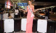 Vừa lên đường đi thi Miss Universe, Hoàng Thùy đã bị phạt 2.000 USD ở sân bay