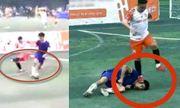 Dân mạng xôn xao với cảnh cầu thủ nằm sân vì đau còn bị đối phương đạp chân lên mặt
