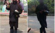 Người dân giáp mặt với người đàn ông bôi mặt đen xì, cầm đầu gà xin tiền ở Hà Nội nói gì?