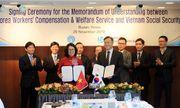 BHXH Việt Nam ký kết Bản ghi nhớ hợp tác với cơ quan Phúc lợi và đền bù cho người lao động Hàn Quốc giai đoạn 2020-2025