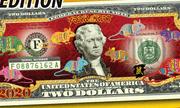 Tờ 2 USD có hình chuột mạ vàng được rao bán 300.000 đồng có giá trị sử dụng?